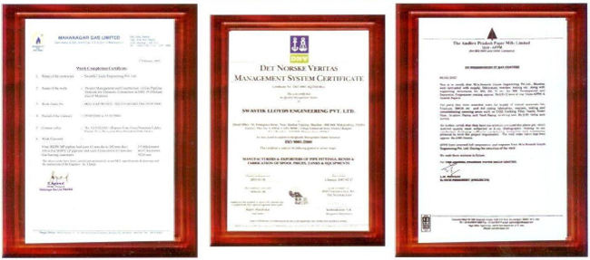 Erection certificates